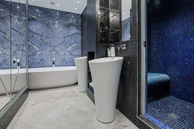 Salle de bain bleue - Design d'intérieur 2021
