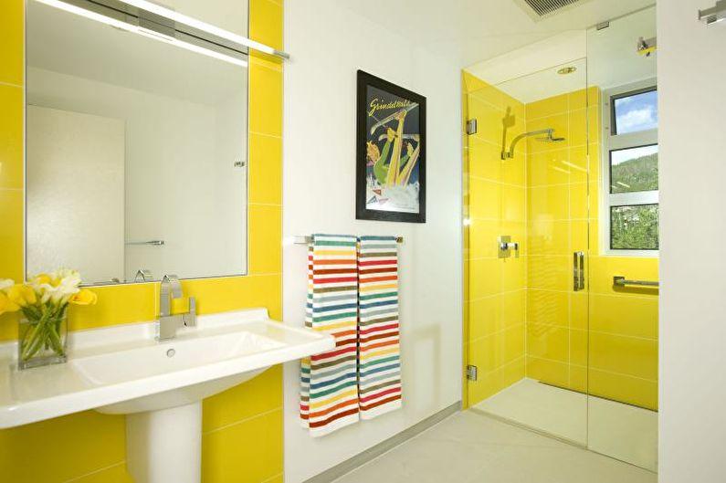 Salle de bain jaune - Design d'intérieur 2021