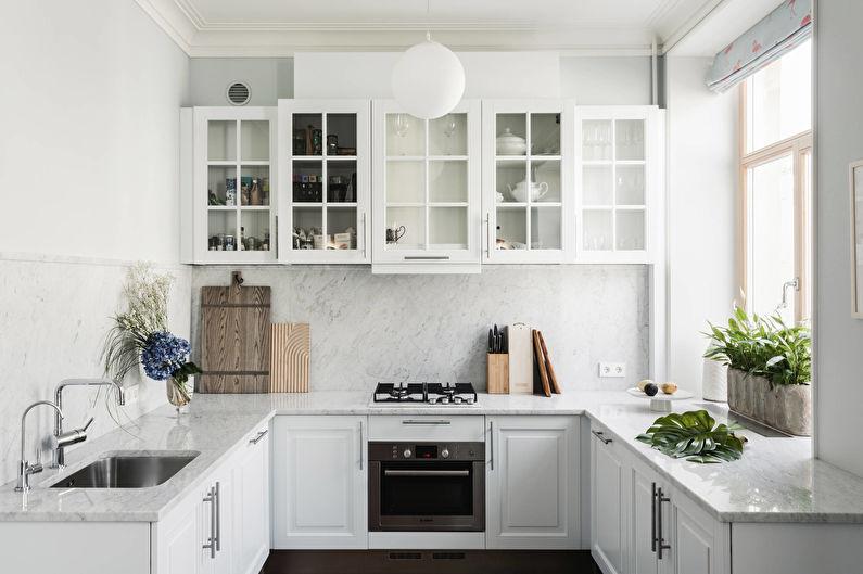 Cuisine blanche - Design d'intérieur
