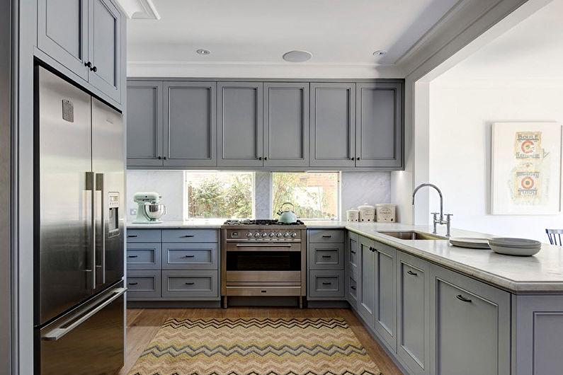 Cuisine grise - Design d'intérieur