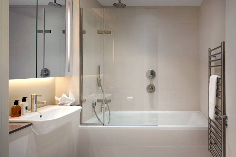Salle de bain blanche dans un style moderne - Design d'intérieur