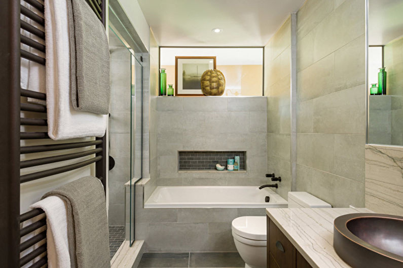 Design d'intérieur de salle de bain moderne - Caractéristiques