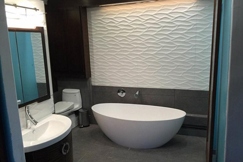 Salle de bain noire dans un style moderne - Design d'intérieur