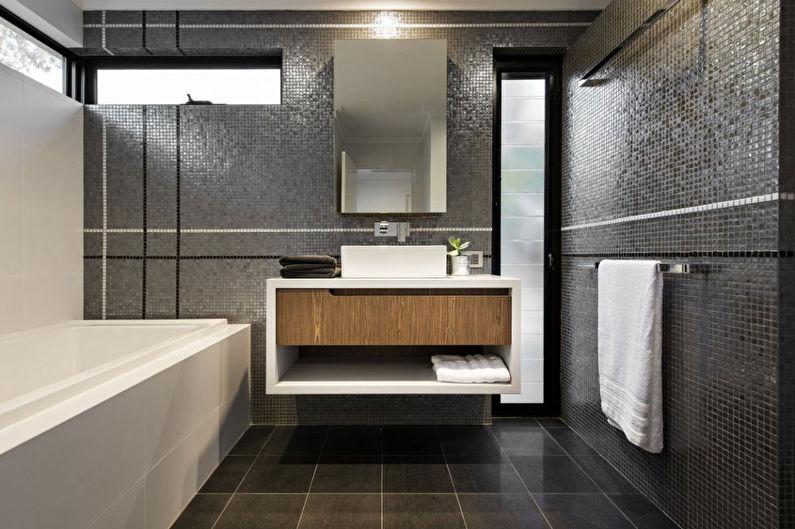 Salle de bain grise dans un style moderne - Design d'intérieur
