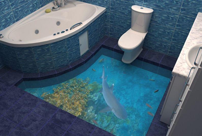 Design contemporain de salle de bain
