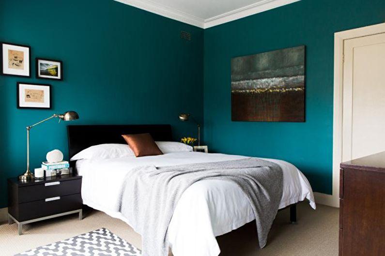 Chambre Bleu Vert - Design d'Intérieur 2021