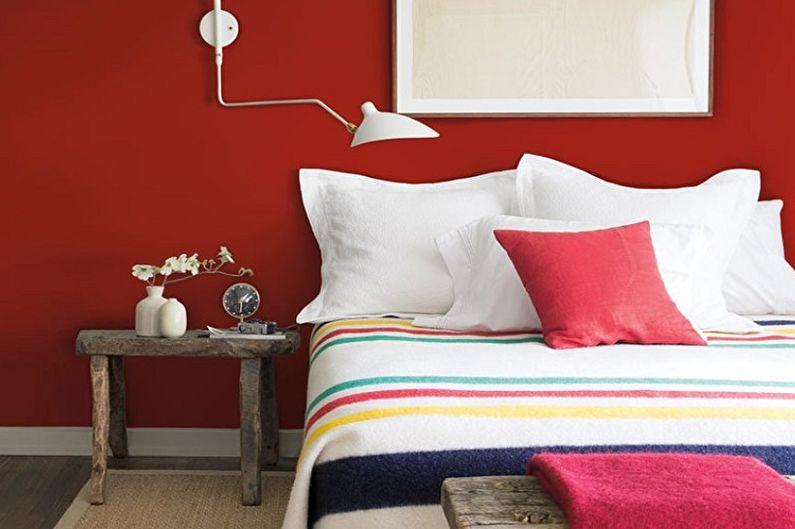 Chambre rouge - Design d'intérieur 2021