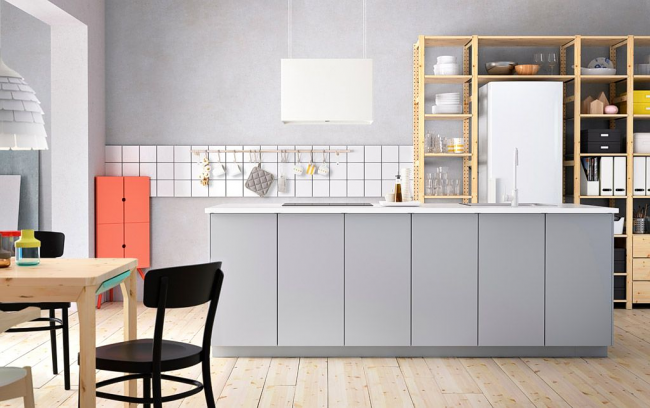 Style scandinave dans la conception de la cuisine IKEA