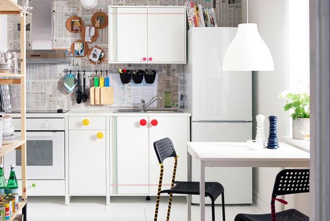 Cuisine IKEA avec un intérieur jeune