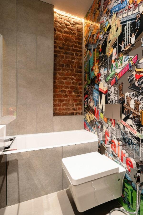 petite salle de bain avec WC