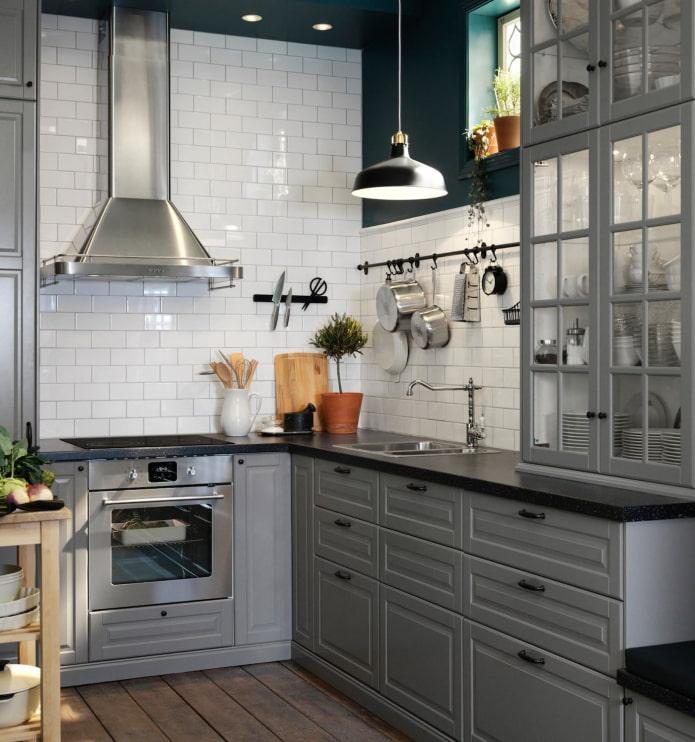 intérieur de cuisine gris