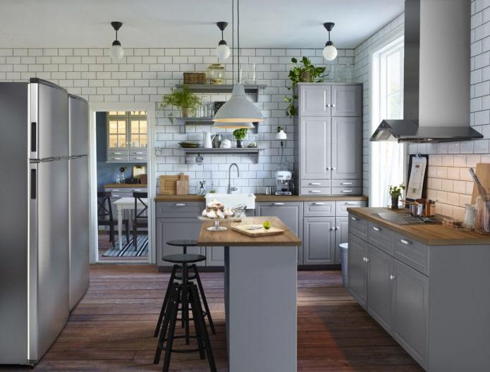 cuisine grise de style scandinave
