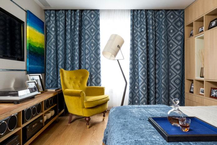 rideaux avec un motif