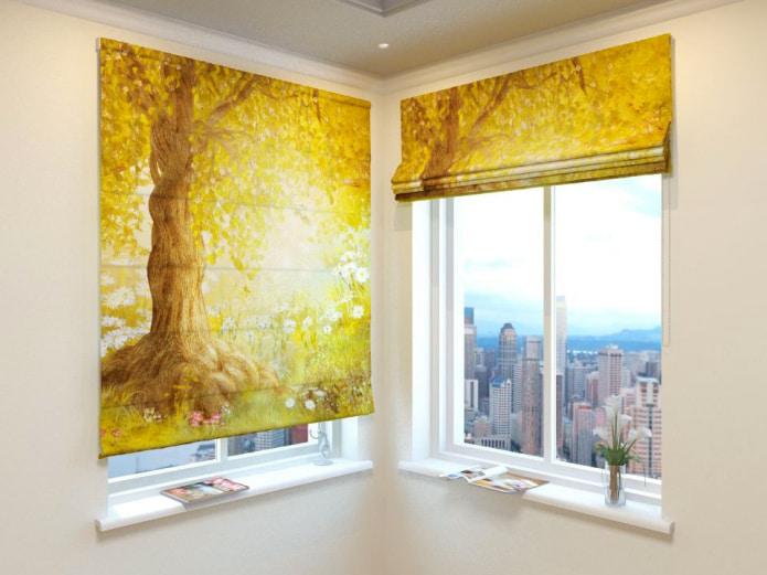 la nature sur les rideaux