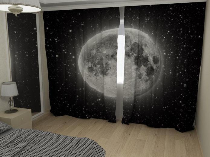 photocurtains à l'image de l'espace