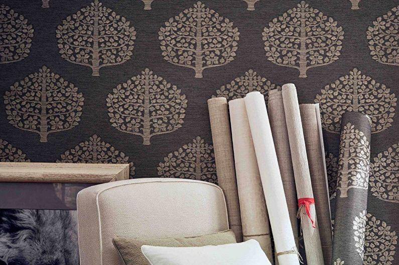 Types de papier peint pour murs - Papier peint textile