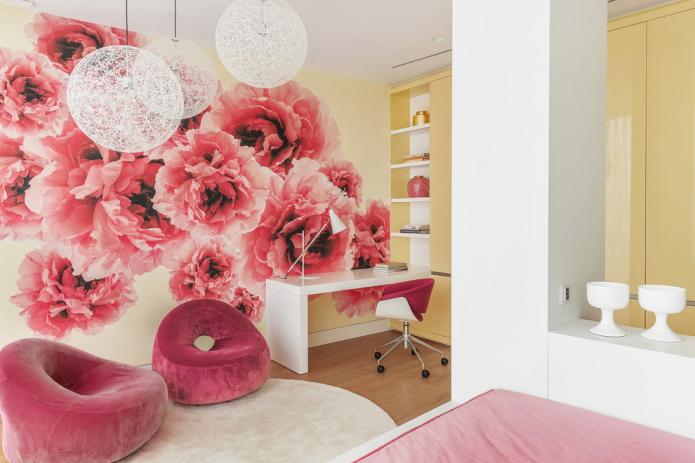 papier peint photo avec des fleurs