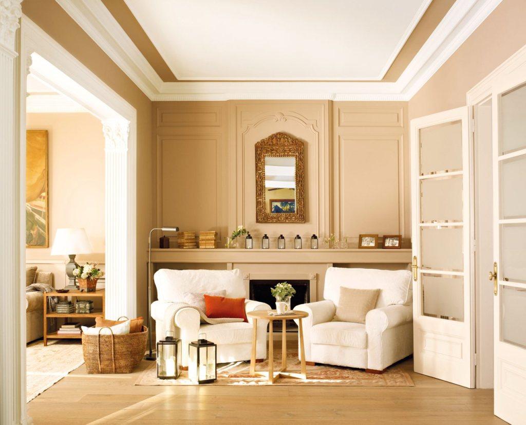 Avec l'aide du beige, vous pouvez créer un intérieur élégant