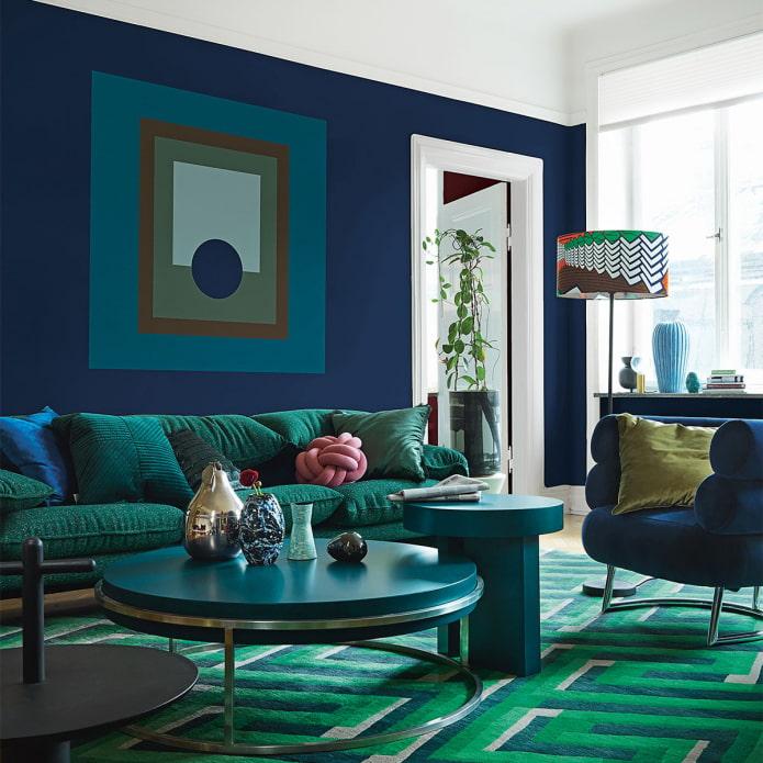 salon bleu-vert