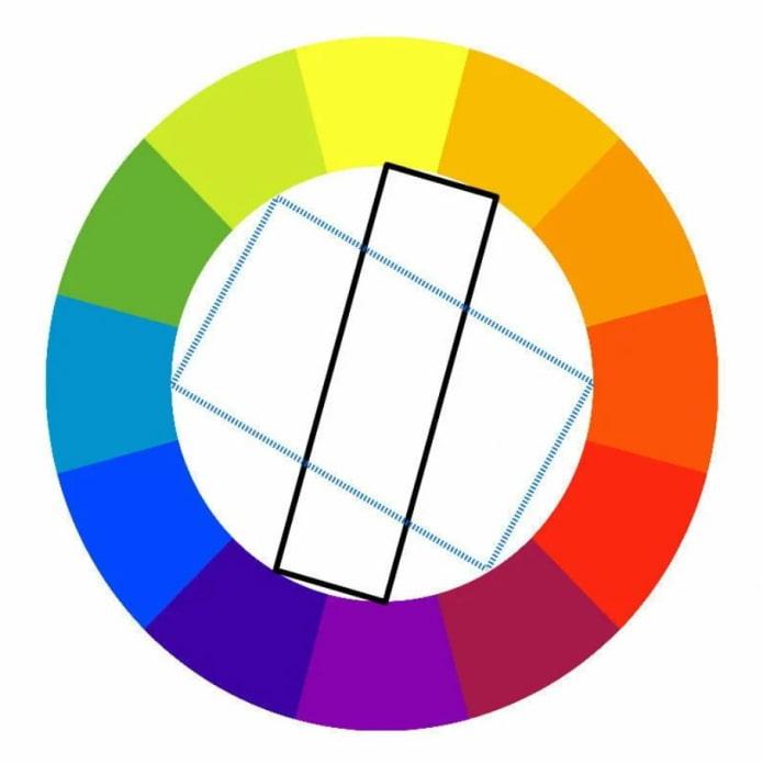combinaison de couleurs rectangulaire