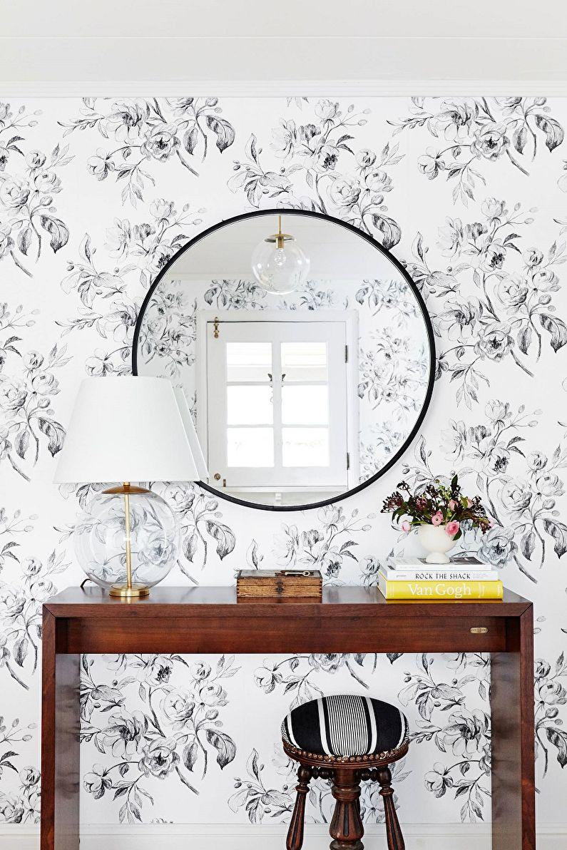 Papier peint noir et blanc à l'intérieur - Types de papier peint