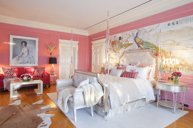 Chambre élégante et extraordinaire.  Combine plusieurs styles.