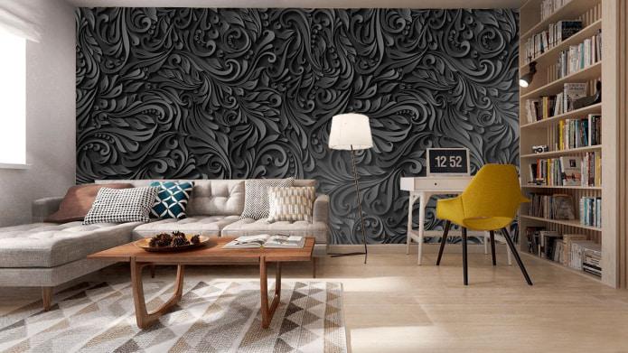 photos murales noires