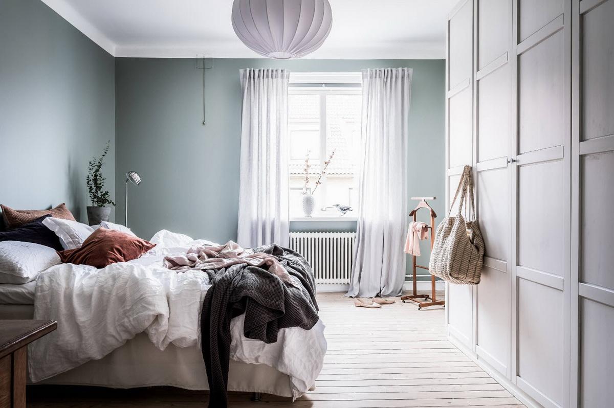 Design de chambre chic dans des couleurs pastel
