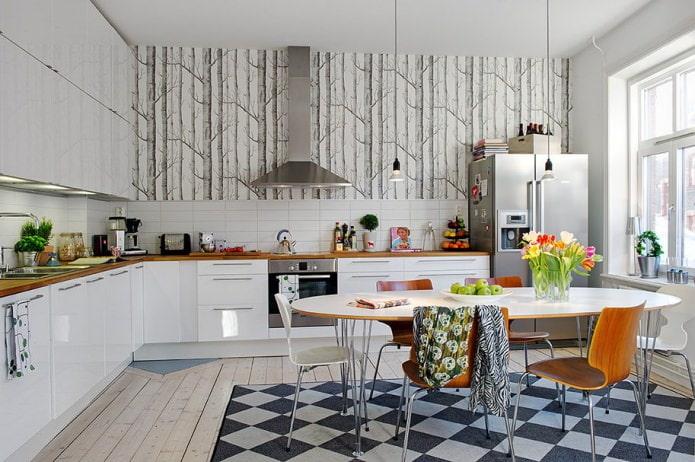 Intérieur de cuisine de style scandinave