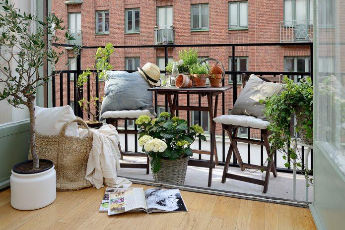 Balcon de style scandinave
