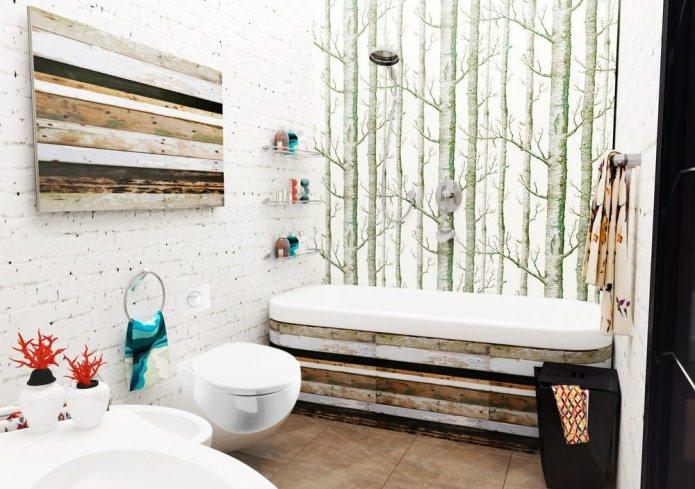 Salle de bain de style scandinave
