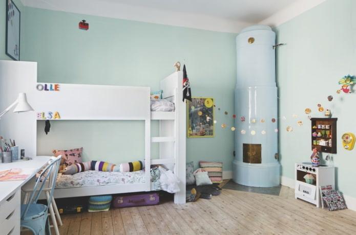 Style scandinave dans la conception de la chambre d'enfant