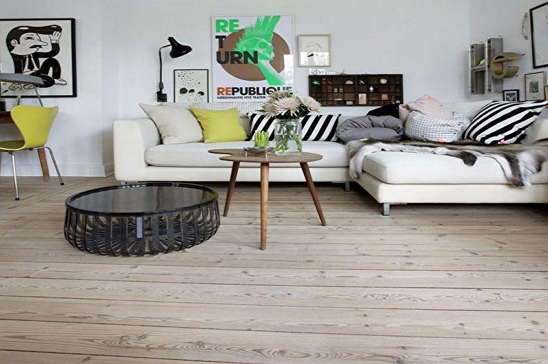 Style scandinave à l'intérieur - Finition du sol