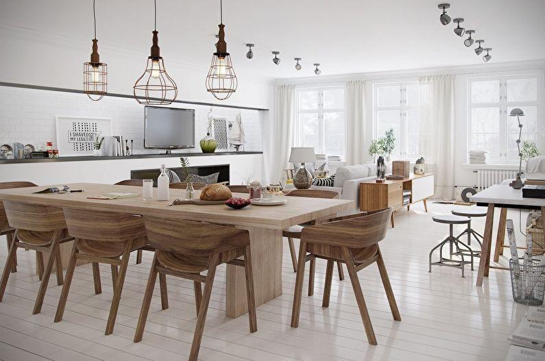 Style scandinave à l'intérieur - Décoration de plafond