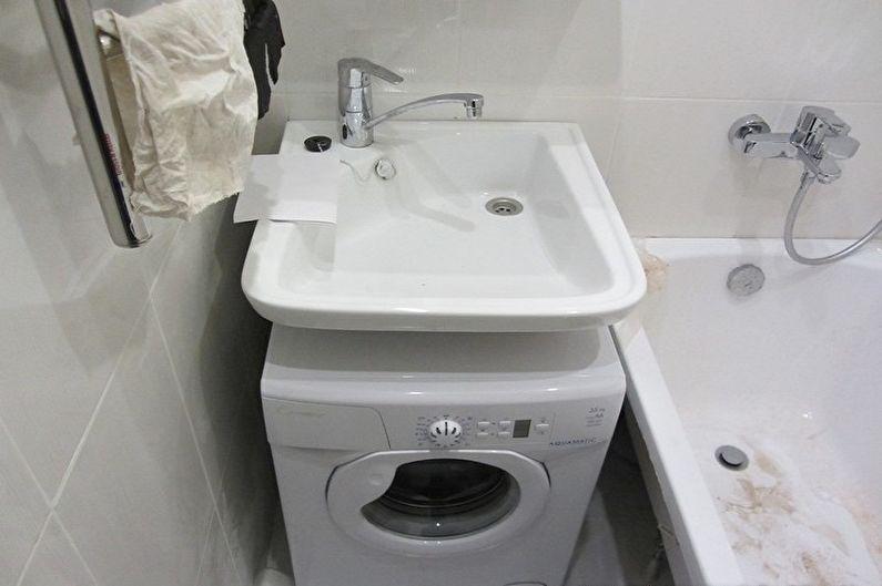 Évier au-dessus de la machine à laver - Inconvénients et difficultés