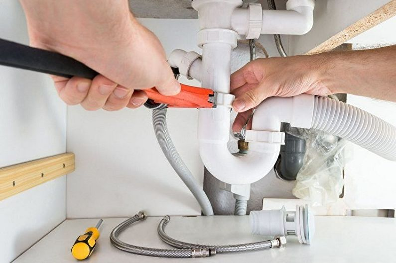Évier au-dessus de la machine à laver - Égoutter