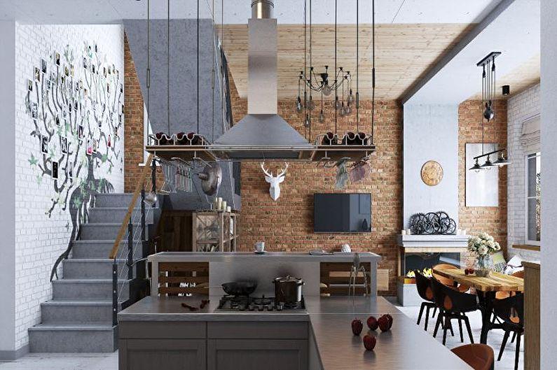 Design d'intérieur de style loft - Textiles, décoration et éclairage