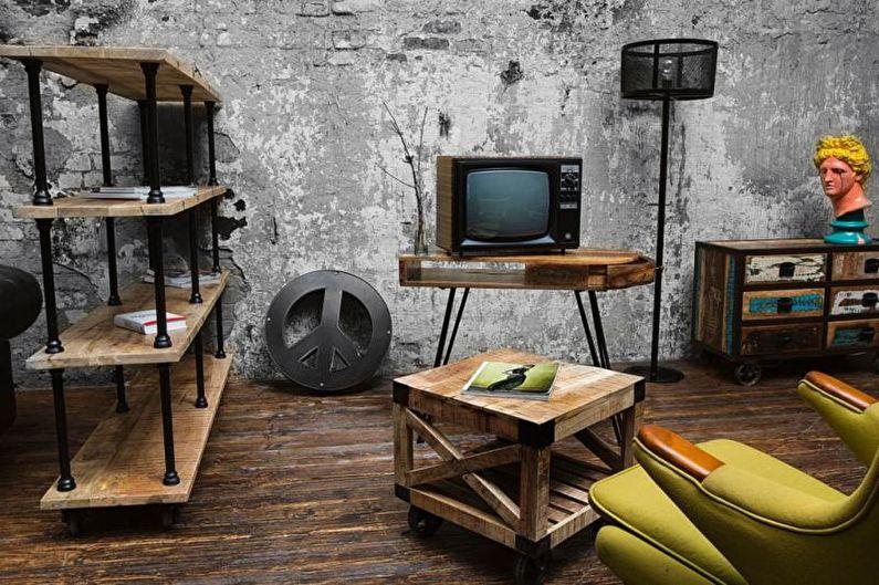 Design d'intérieur de style loft - Mobilier
