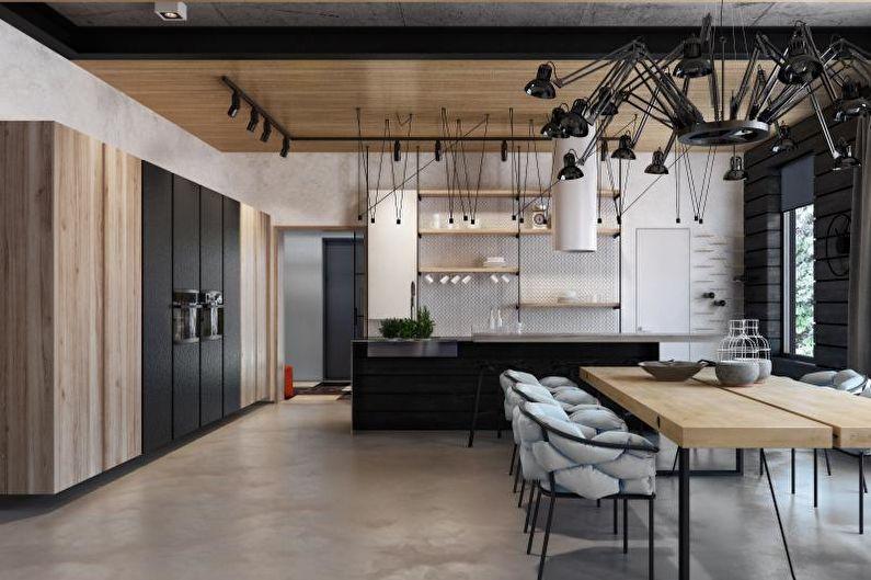 Design d'intérieur de style loft - Finition de plafond