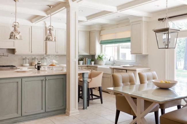 Style classique à l'intérieur de la cuisine