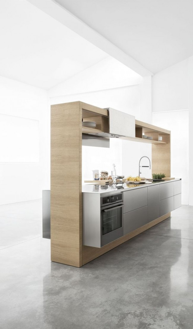 Cuisine moderne compacte mais confortable