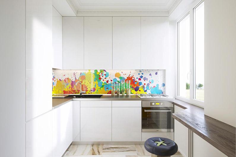 Cuisine d'angle avec bar - Design d'intérieur