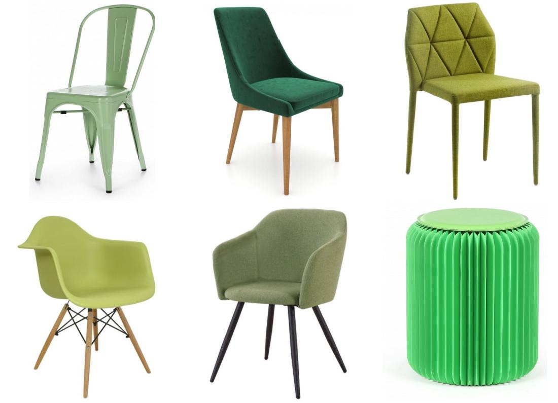 Chaises vertes pour la cuisine