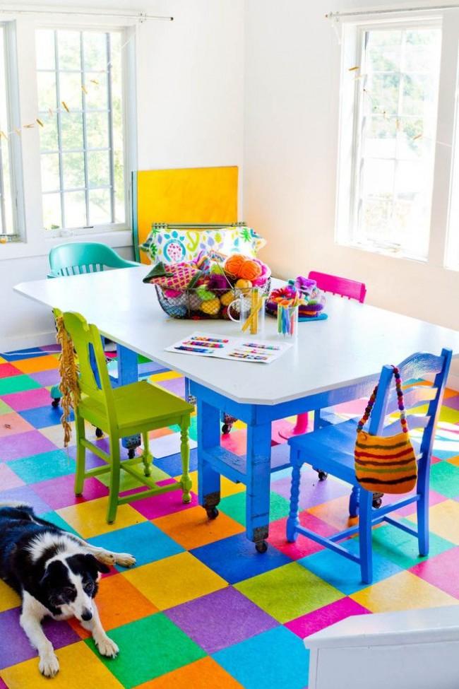 Les carreaux de vinyle de quartz sont parfaits pour la chambre d'un enfant