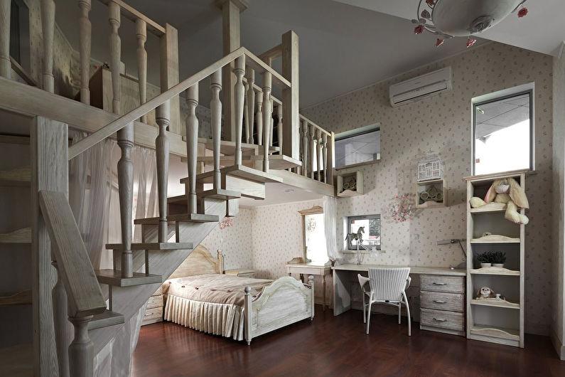 Chambre d'enfants de style provençal - Design d'intérieur