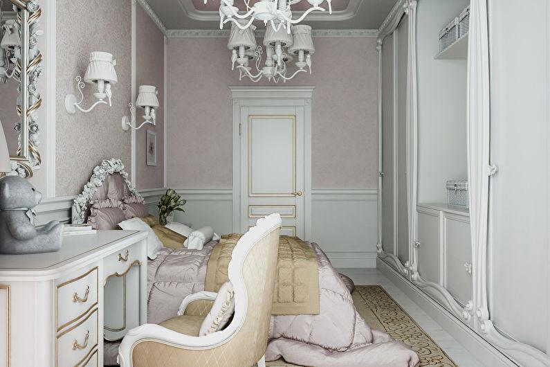 Chambre d'enfants dans un style classique - Design d'intérieur