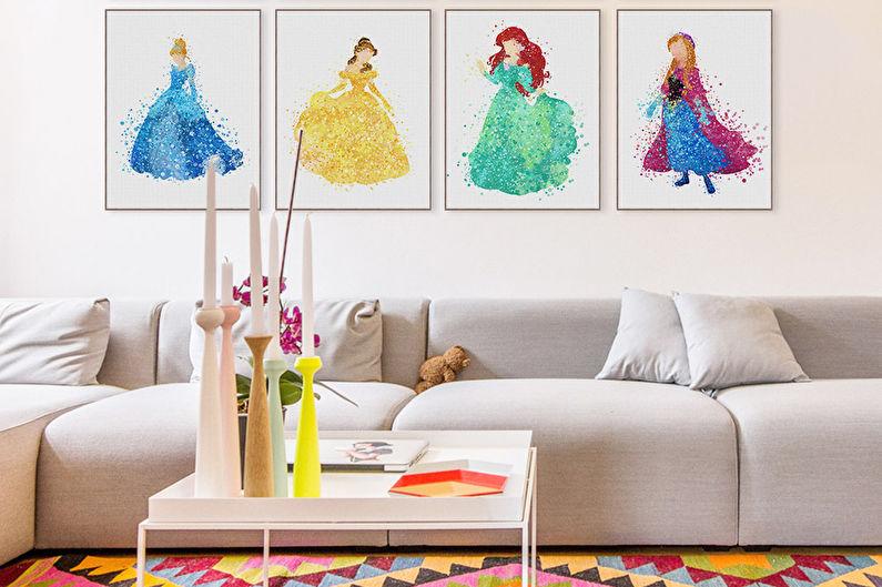 Chambre d'enfants Pop Art - Design d'intérieur