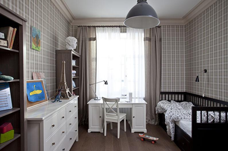 Chambre d'enfants beige - Design d'intérieur