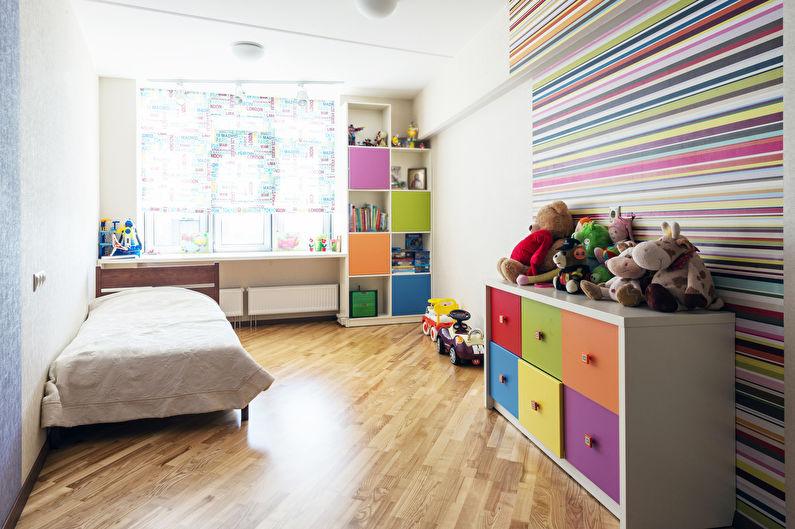Chambre d'enfants dans le style du minimalisme - Design d'intérieur