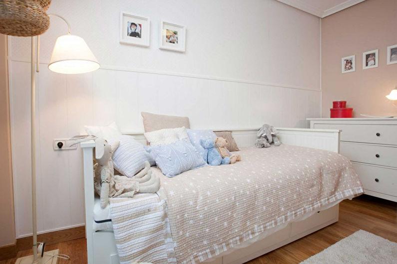 Chambre d'enfants blanche - Design d'intérieur